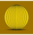 Abstract oval yellow background with shadow on the vector image