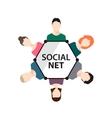 teamwork social net people group vector image