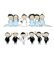 Wedding party vector image