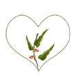 Branch of Pistachio Nuts in A Heart Shape vector image