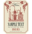 label for wine with wine production vector image