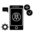 app development icon sign o vector image