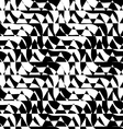 Black and white alternating diagonal ways triangle vector image