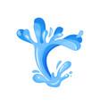 blue ocean or sea wave water splash wavy symbol vector image