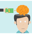 Brain drain The loss of talent vector image