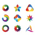 clorful logo vector image