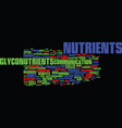 Glyconutrients an overview text background word vector image