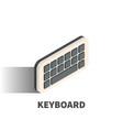keyboard icon symbol vector image