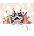 mailing template for the new year vector image