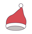 santa claus christmas cap up on colorful vector image