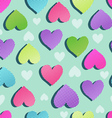 sweet hearts seamless vector image vector image