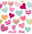 heart patches vector image