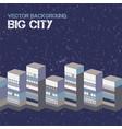 big city background vector image