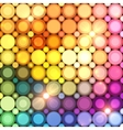 Colorful disco circles abstract background vector image