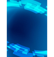 blue flyer - abstract background vector image vector image