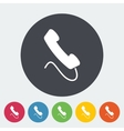 Phone single flat icon vector image