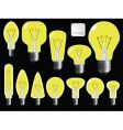 light bulbs shapes vector image