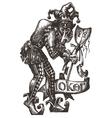 Joker logo design template clown or vector image