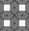 Monochrome pattern with thin black intersecting vector image
