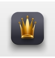 Queen icon Symbol of Crown on dark backdrop vector image