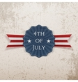 Independence Day 4th of July greeting Tag vector image