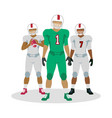 american football players in equipment with ball vector image