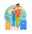 Couple Summer Vacation Travel vector image