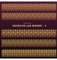 Golden decorative ethnic borders vector image