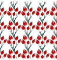 pattern red flower on white background vector image