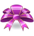 Purple ribbon bow vector image