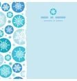 Round Snowflakes Square Torn Seamless Pattern vector image