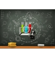 School and science infographics vector image