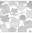 Seamless pattern of grey armchairs vector image