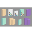 Set of colored product Boxes vector image