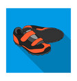 shoes for cyclists special cycling for cycling vector image