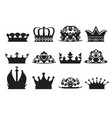 silhouette of diadems and crowns vector image