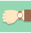 Picture of businessman in suit with watch vector image vector image