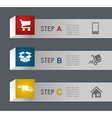 Web shopping and shipping steps vector image