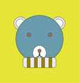 an animal with colorful backgrounds bear vector image