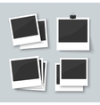 Set of old style photo frames vector image