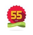 Years 55 anniversary label logo vector image