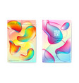 abstract poster liquid bubble background fluid vector image