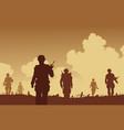 Army on patrol vector image