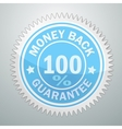 badge of money back guarantee vector image