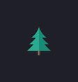 christmas tree computer symbol vector image