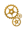 Golden gears vector image