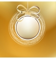 Merry christmas gold card EPS8 vector image