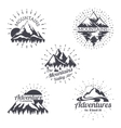 Mountain sketch logo set in retro style vector image