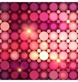 Pink disco circles abstract background vector image