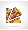 Pizza slice flat color icon vector image